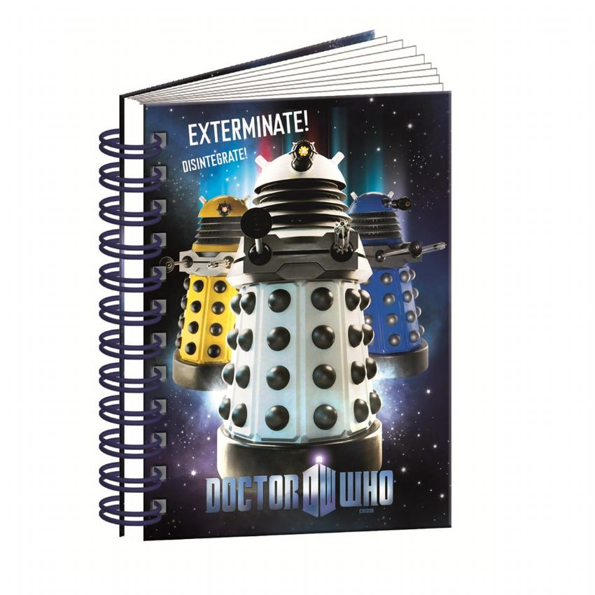 A6 Spiral Hardbacked Notebook 11th DOCTOR WHO Stationery (Blueprint)